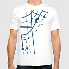 Pattern Master Navy SMALL White Mens Fitted Tee