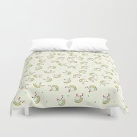 chicken Duvet Covers featuring Chicken by Natalia Burgos