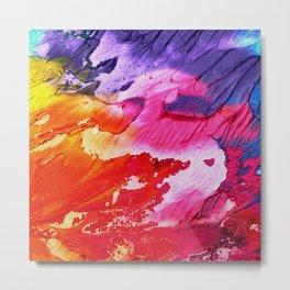 Red purple paint Metal Print