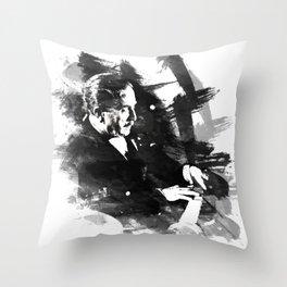 Piano Genius Arrau Throw Pillow