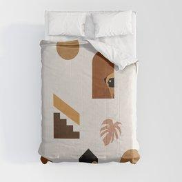 Hide and Seek Pug Abstract Comforters