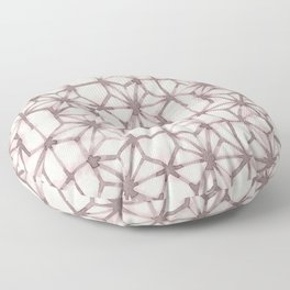Simply Shibori Stars in Red Earth on Lunar Gray Floor Pillow