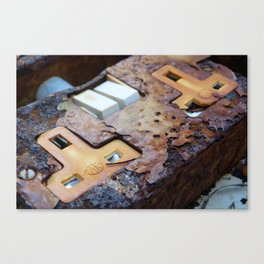 rusted socket Canvas Print