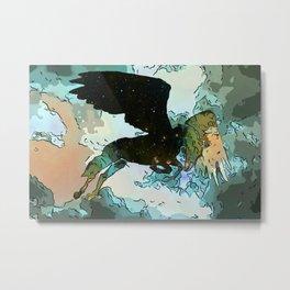 Pegasus in Flight Metal Print