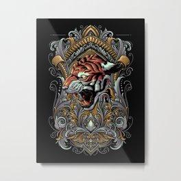 The Great Tiger Metal Print