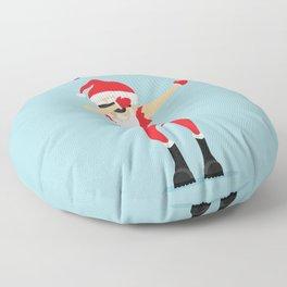 Dabbing Santa I Sleigh Floor Pillow