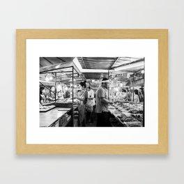 Serving the Crowd Framed Art Print