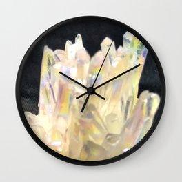 Angel Aura Crystals Clear Quartz Cluster Unicorn Fantasy Castle Wall Clock