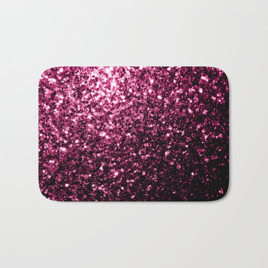 Beautiful Pink glitter sparkles Bath Mat