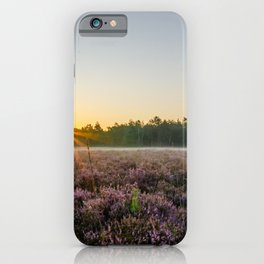 Sunny morning in the field iPhone Case