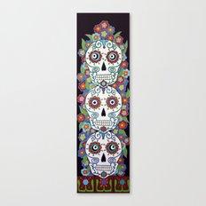 Sugar Skull Totem Canvas Print