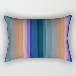 Multi-colored striped pattern 2 Rectangular Pillow