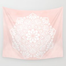 Mandala Mermaid Sea Pink by Nature Magick Wall Tapestry