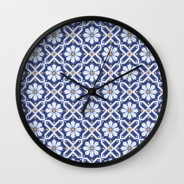 Spanish tiles Wall Clock