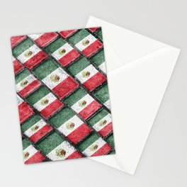 Mexican Flag Pattern Design Stationery Cards