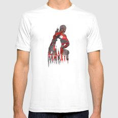 Hawkeye Print Mens Fitted Tee MEDIUM White