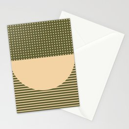 Geometric Spring Abstract - Pantone Warm color Stationery Cards