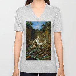 """François Boucher """"Fountain of Venus"""" Unisex V-Neck"""