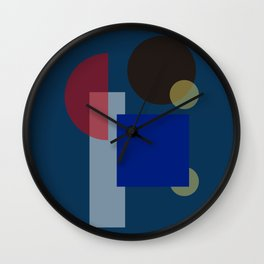 Modern geometric abstract 12 - pattern Wall Clock