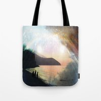 stay gold Tote Bags featuring stay gold by Kiki collagist