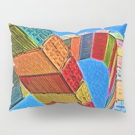 A Rainbow Of Shipping Containers Pillow Sham