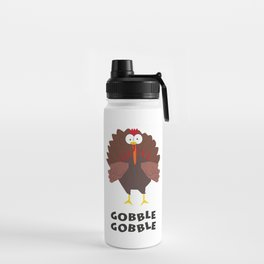 Thanksgiving Turkey In Cartoon Style Without Background Water Bottle