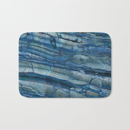 Ocean Depths Blue Marble Bath Mat