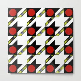 HOUNDSTOOTH PATTERN WITH POLKA DOT EFFECT Metal Print
