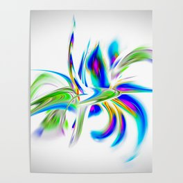 Abstract perfection - Flower Magical Poster