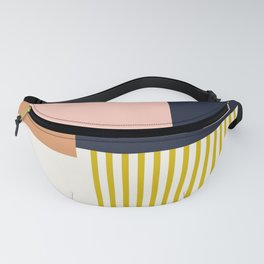 Sol Abstract Geometric Print in Multi Fanny Pack