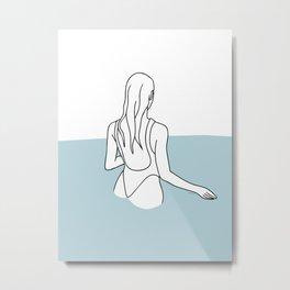 Wading Metal Print