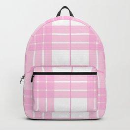 Pink Plaid Backpack