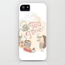 Tea Time with Harriet Hedgehog iPhone Case