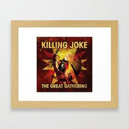 KILLING JOKE THE GREAT GATHERING TOUR DATES 2019 JARJIT Framed Art Print
