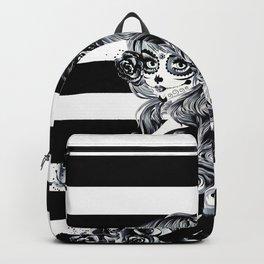 Black & White Sugar Skull Girl Backpack