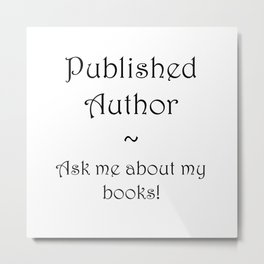 Published Author Clean Metal Print