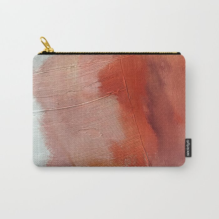 Desert Journey [1]: a textured, abstract piece in pinks, reds, and white by Alyssa Hamilton Art Carry-All Pouch