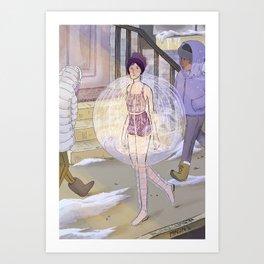 Shower Bubble Art Print
