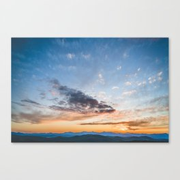 Sky Over Foss Canvas Print