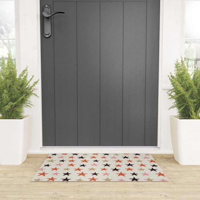 Star Pattern Color Welcome Mat