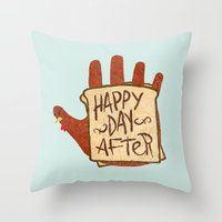 turkey Throw Pillows featuring TURKEY SAMMIDGES by Josh LaFayette