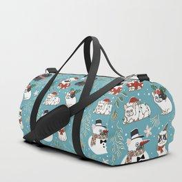Christmas French Bulldog Duffle Bag