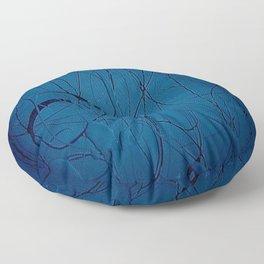 Navy Blue - Jackson Pollock Style - Famous Artists - Abstract Painters - Modern Art - Corbin Henry Floor Pillow