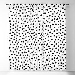 Dalmatian Dots Black White Spots Blackout Curtain