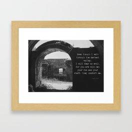 Psalm 23 4 Framed Art Print