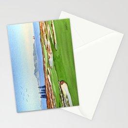 Tara Iti Golf Course New Zealand 17th Hole Stationery Cards