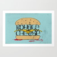 pulp fiction Art Prints featuring Pulp Fiction by Drew Wallace