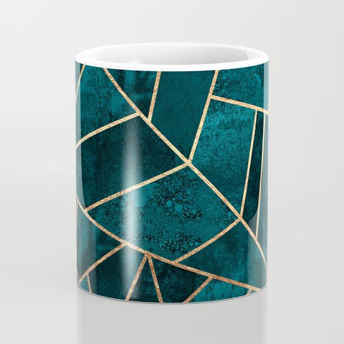 Deep Teal Stone Coffee Mug