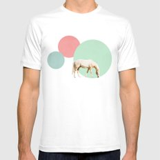 Mr. Horse Mens Fitted Tee MEDIUM White