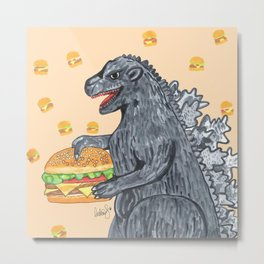 Zilla Burger Metal Print